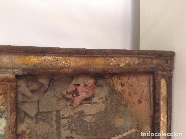 Antigüedades: Marco antiguo imagen religiosa - Foto 3 - 74841451