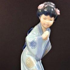 Antigüedades: JAPONESITA SAYONARA. PORCELANA ESMALTADA. LLADRÓ. 01004989. S.DEBON. ESPAÑA 1996. Lote 74844687