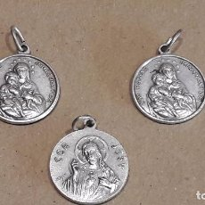 Antigüedades: 3 MEDALLAS COR MARIAE INMACULATUM / COR JESU. PERFECTAS / 2 CM. ENVÍO INCLUIDO.. Lote 74862047