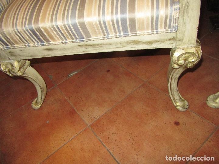 Antigüedades: PAREJA DE BUTACAS DESCALZADORAS. - Foto 7 - 74875403