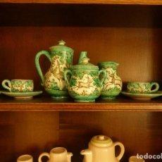 Antigüedades: JUEGO DE CAFÉ DE 3 SERVICIOS. PUENTE DEL ARZOBISPO. Lote 74884435