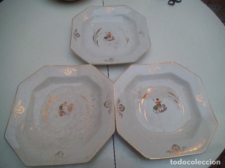 Antigüedades: TRES PLATOS DE PICKMAN - Foto 10 - 74900451