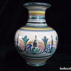 Antigüedades: JARRÓN CERÁMICA SANGUINO.78 PUENTE DEL ARZOBISPO TOLEDO.. Lote 74915663