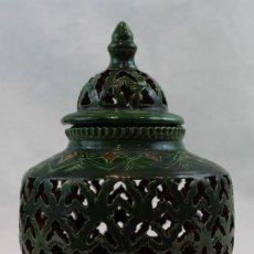 Antigüedades: VASIJA DE CERÁMICA CALADA,PROCEDENCIA ÚBEDA (JAÉN). DIÁMETRO DE BOCA 9 CM.. Lote 173552293