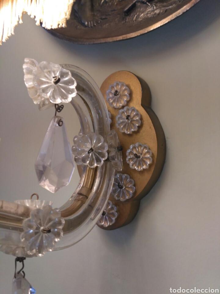 Antigüedades: Apliques pared de cristal tallado del siglo XX - Foto 3 - 74931290