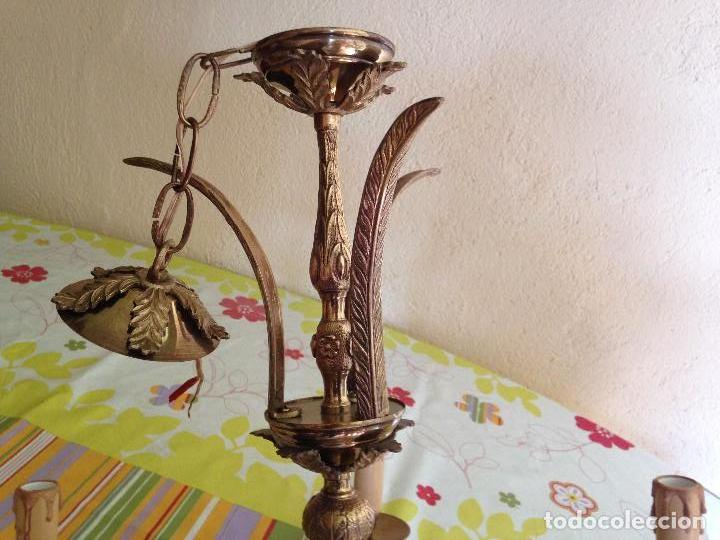 Antigüedades: Lampara de techo bronce - Foto 4 - 38187352