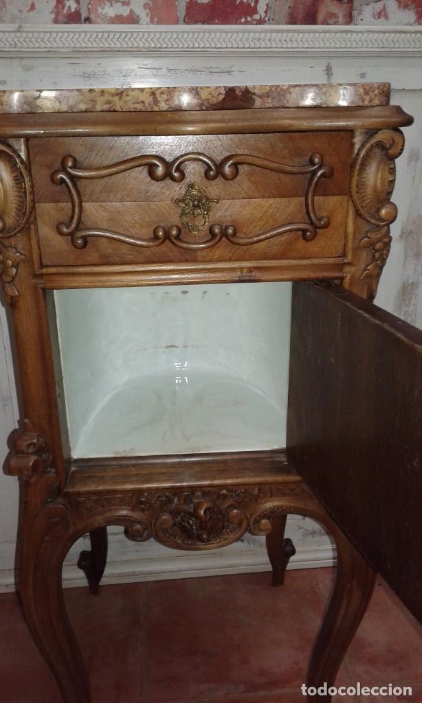 Antigüedades: MESITA DE NOGAL SIGLO XIX - Foto 6 - 74964299