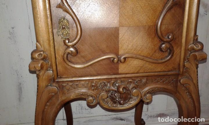 Antigüedades: MESITA DE NOGAL SIGLO XIX - Foto 7 - 74964299