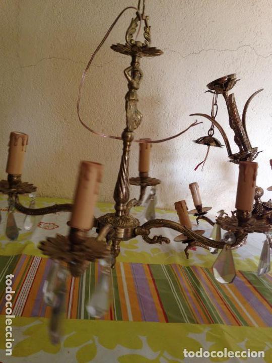 LAMPARA DE TECHO BRONCE (Antigüedades - Iluminación - Lámparas Antiguas)