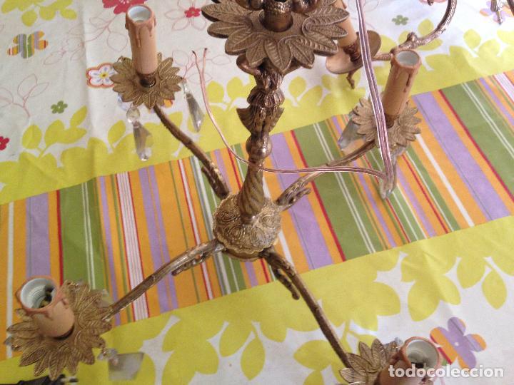 Antigüedades: Lampara de techo bronce - Foto 4 - 38187384