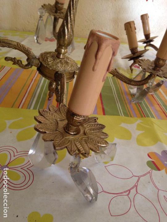 Antigüedades: Lampara de techo bronce - Foto 5 - 38187384