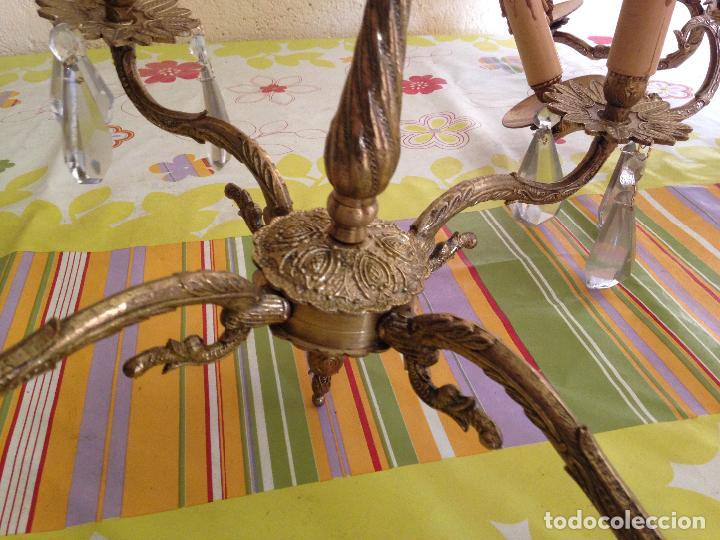 Antigüedades: Lampara de techo bronce - Foto 6 - 38187384