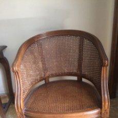 Antigüedades: SILLAS BAJAS DE MADERA. Lote 75057167