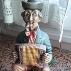 Antigüedades: FIGURA MUSICO ACORDEONISTA CALLEJERO. Lote 75018791