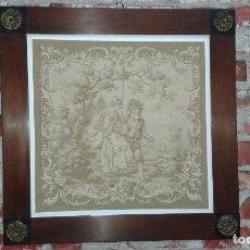 Antigüedades: ANTIGUO TAPIZ ENMARCADO, SIGLO XIX. Lote 75080795