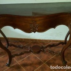 Antigüedades: CONSOLA ISABELINA EN CAOBA MITAD SIGLO XIX EN MUY BUEN ESTADO. Lote 75117503