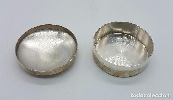 Antigüedades: Cajita pastillero en plata de ley contrastada , Centro medico TEKNON . - Foto 4 - 75130291
