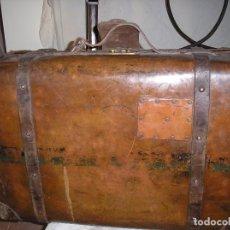 Antigüedades: MALETA DE CUERO. Lote 75132375