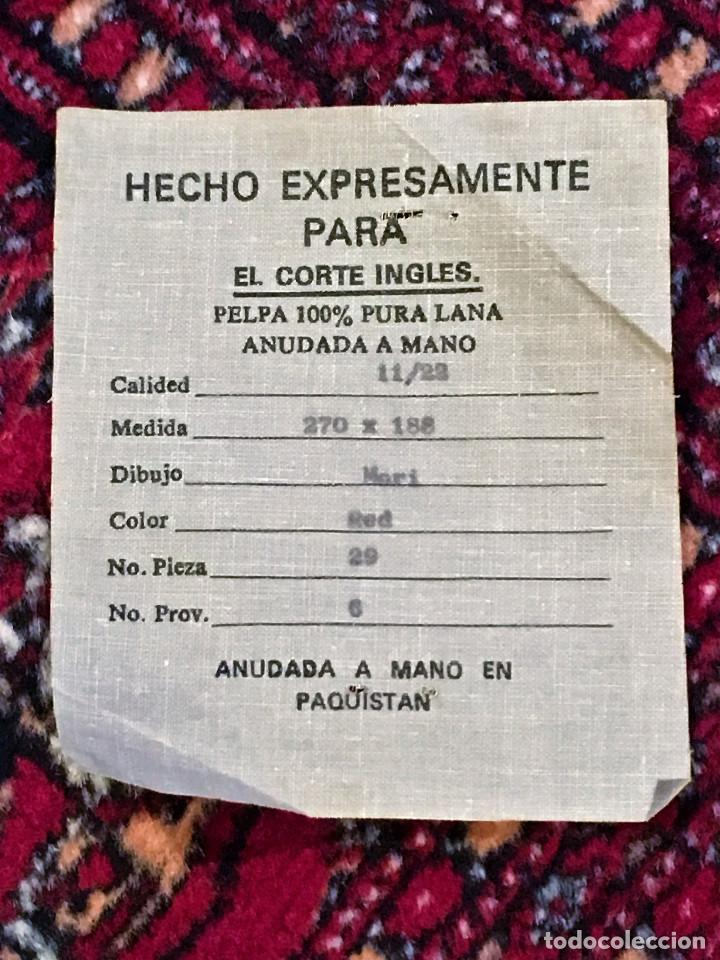 Antigüedades: ALFOMBRA PERSA PELPA ANUDADA A MANO - Foto 7 - 75133931