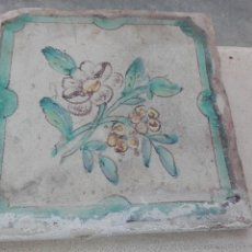 Antigüedades: ANTIGUO AZULEJO VALENCIANO SIGLO XVIII - XIX. Lote 29110823
