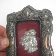 Antigüedades: PRECIODO CUADRO METAL Y MADERA IMAGEN SAN ANTONIO. Lote 75135959