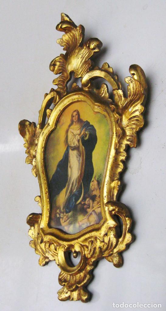 precioso marco cornucopia madera al oro fino an - Comprar Ornamentos ...