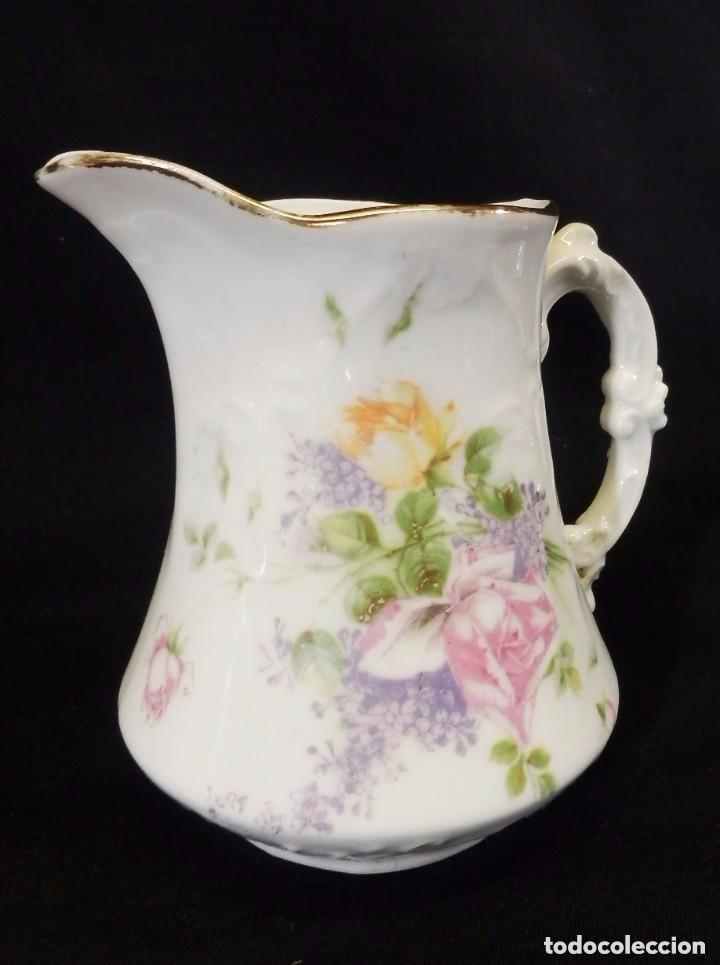 Antigüedades: Antiguo juego de café en porcelana de flores. Años 1920 - Foto 2 - 75188319