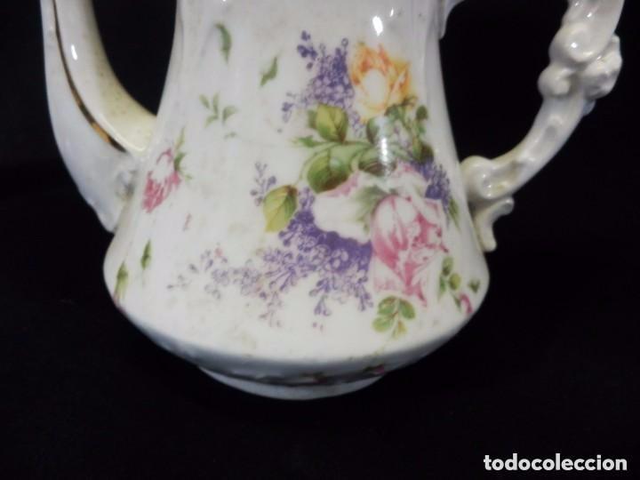 Antigüedades: Antiguo juego de café en porcelana de flores. Años 1920 - Foto 4 - 75188319
