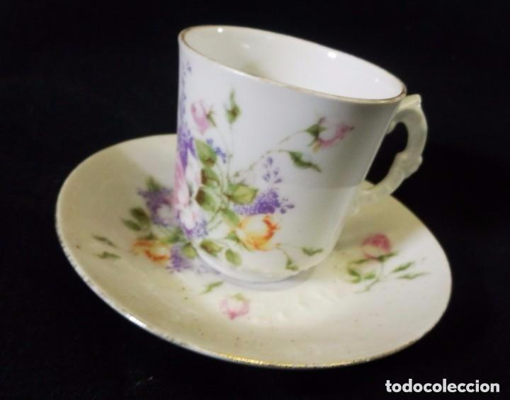 Antigüedades: Antiguo juego de café en porcelana de flores. Años 1920 - Foto 6 - 75188319