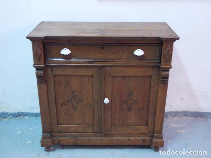 Bonito mueble aparador de pino entredos cocin comprar - Mueble aparador salon ...