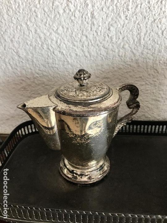 Antigüedades: ELEGANTE JUEGO DE TE O CAFÉ BAÑADO EN PLATA 1930S. - Foto 2 - 75216159