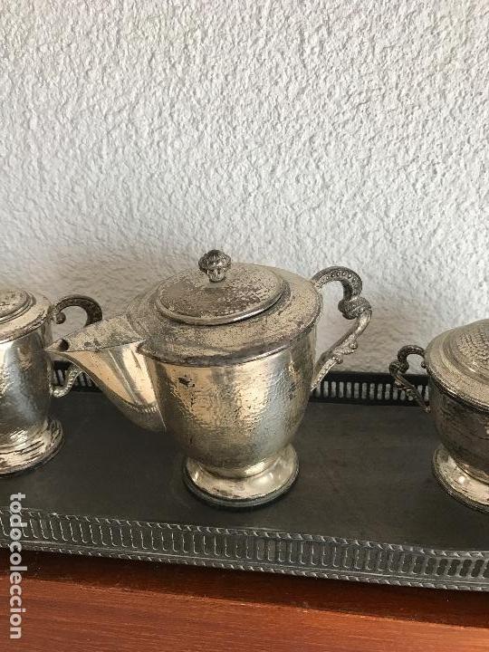 Antigüedades: ELEGANTE JUEGO DE TE O CAFÉ BAÑADO EN PLATA 1930S. - Foto 3 - 75216159