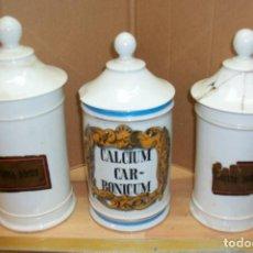 Antigüedades: ANTIGUOS BOTES/TARROS DE FARMACIA. Lote 75228103