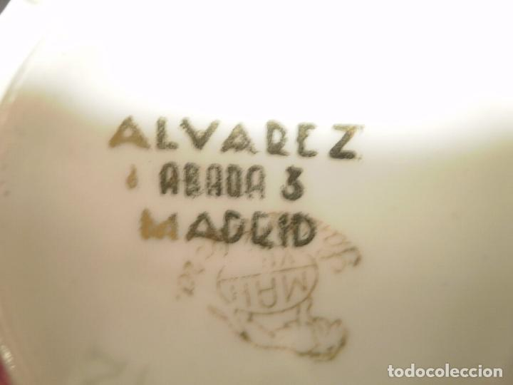 Antigüedades: TAZA DE TE DE PORCELANA DE SANTA CLARA. PROPAGANDA -ALVAREZ-MADRID- - Foto 2 - 75246399