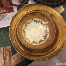 Antiquités: TAZA DE DESAYUNO Y PLATOS DE PORCELANA DE BAVIERA. Lote 86878700