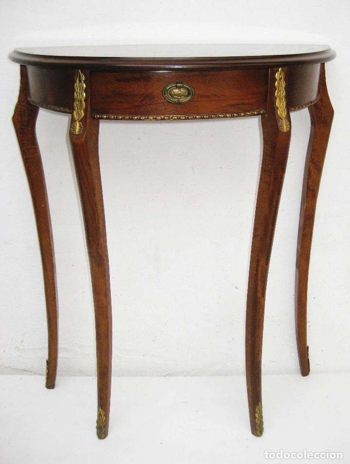 Mesita mesa estilo ingles vintage auxiliar mens comprar - Mesas auxiliares antiguas ...