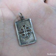 Antigüedades: CRUZ ANTIGUA EN PLATA DE LEY 925 CONTRASTADA .. Lote 75270995