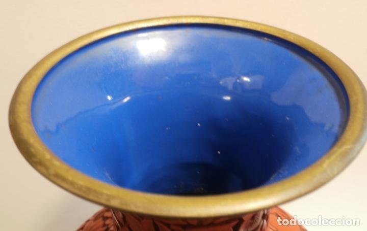 Antigüedades: Gran jarron de LACA CINABRIO 38ctms. - Foto 6 - 75273815