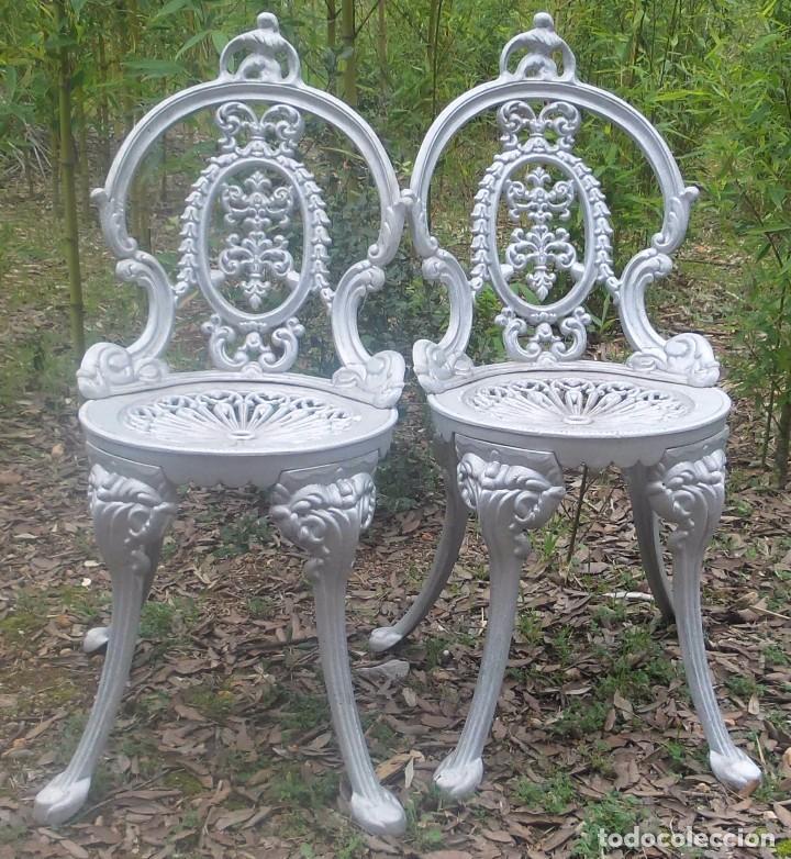 una silla clásica para jardín en aluminio - Comprar Sillas Antiguas ...