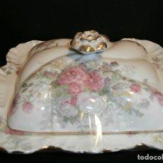 Antigüedades: TARRINA DE PORCELANA DE LIMOGES. Lote 75276487