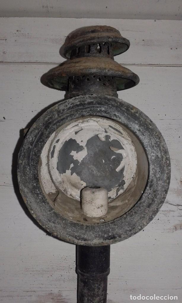 FAROL DE CARRO (Antigüedades - Iluminación - Faroles Antiguos)