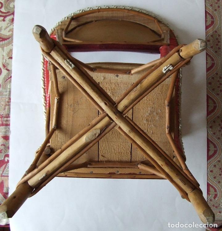Antigüedades: ANTIGUO SILLONCITO DE NIÑO ARTESANAL SILLON MIMBRE - Foto 5 - 75284831