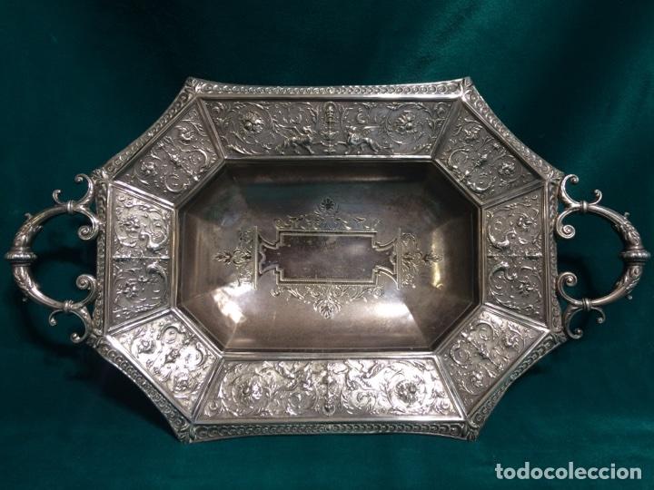 6425c798884e Bandeja antigua en plata maciza española ley 91 - Vendido en Venta ...