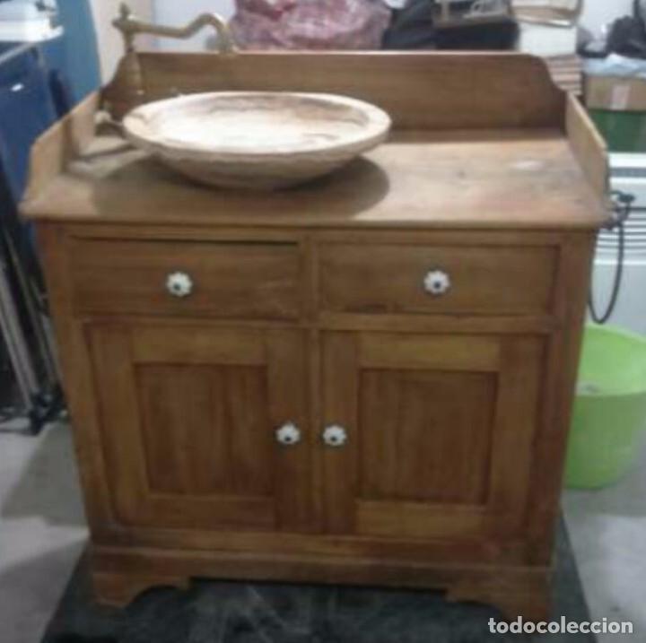 Lavabo r stico de piedra onix en mueble de ma comprar - Mueble lavabo rustico ...