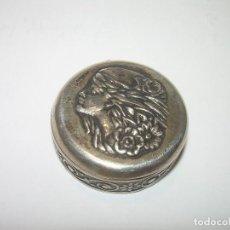 Antigüedades: ANTIGUA CAJITA PASTILLERO DE PLATA CON CONTRASTE LEY. 980. Lote 75294927