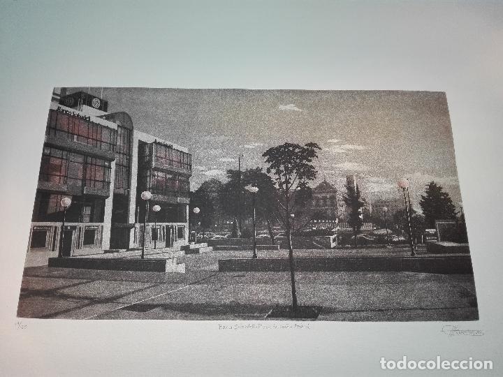 GRABADO EDICION LIMITADA - BANCO SABADELL - PLAZA DE COLÓN - MADRID - FRANCISCO DOMINGUEZ PENIS - (Antigüedades - Varios)