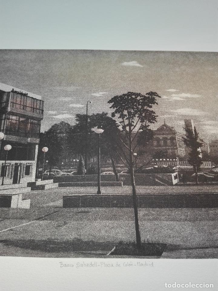 Antigüedades: GRABADO EDICION LIMITADA - BANCO SABADELL - PLAZA DE COLÓN - MADRID - FRANCISCO DOMINGUEZ PENIS - - Foto 4 - 75295215