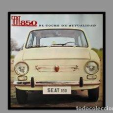 Antigüedades: AZULEJO 10X10 PUBLICIDAD SEAT 850. Lote 75314519