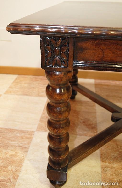 Mesa de comedor antigua madera tallada de nogal comprar - Mesa comedor antigua ...