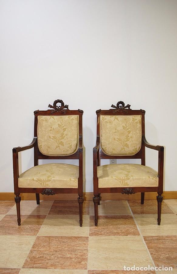 sillones antiguos estilo luis xvi antigedades muebles antiguos sillones antiguos